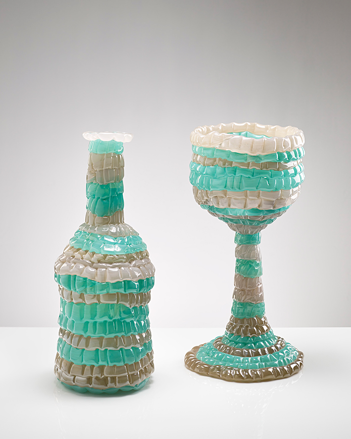 Goblet and bottle  2012  37 x 17 cm