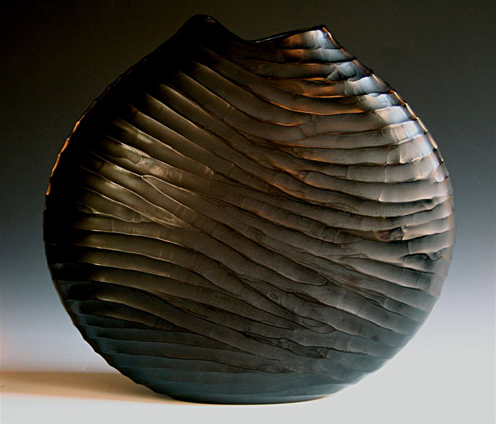 Black carved 2009  40 x 37 cm